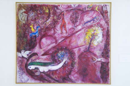 chagall: Painting by Marc Chagall, Marc Chagall Museum, Nice, France