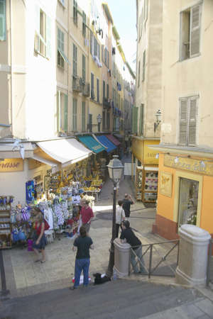 Shopping district, Nice, France Editorial