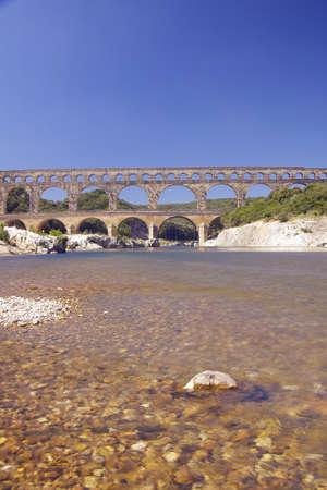 River Gard and the Pont du Gard, Nimes, France