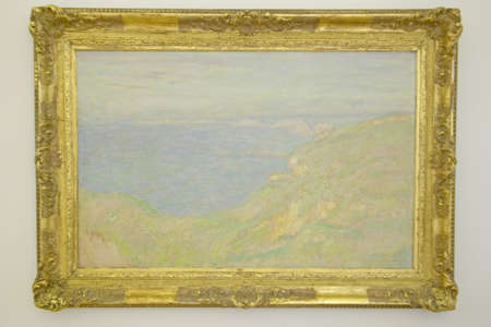 monet: Painting by Monet at Museum of Fine Arts, Nice, France