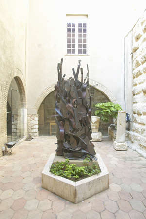 picasso: Outdoors of the Picasso Museum, Antibes, France Editorial