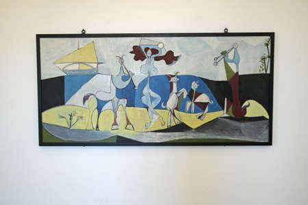 joie: La Joie de Vivre, Gem�lde von Picasso, Picasso Museum in Antibes, Frankreich