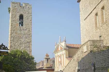 12th century Bell-Tower and church, Antibes, France