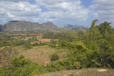 Tropical view of the Valle de Viales, in central Cuba