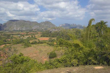 Vista tropical del Valle de Viales, en el centro de Cuba