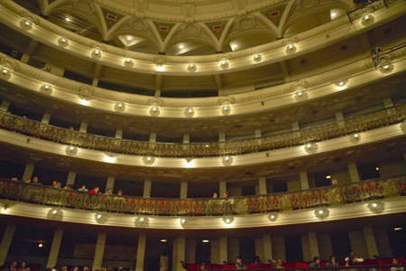 Interior of Grand Teatro and opera house in Old Havana, Cuba
