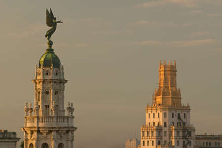 Roofs of Opera House and Dome of the Royal Theater in Havana, Cuba