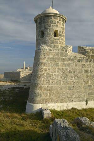 sentry: Sentry tower at El Morro Fort, Castillo del Morro, in Havana, Cuba Stock Photo