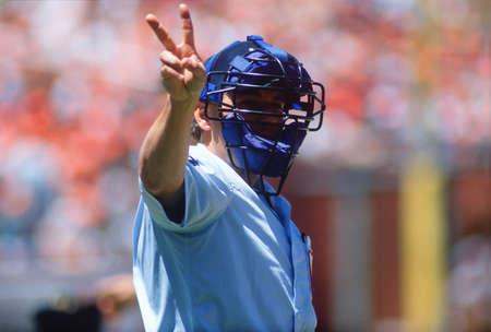an umpire: Major League umpire, San Francisco, California