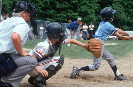 athletic wear: Little League baseball player at bat, Hebron, Connecticut