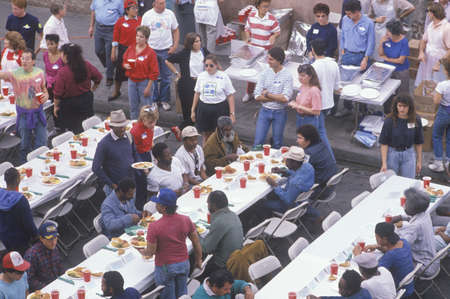 Christmas dinners for the homeless, Los Angeles, California