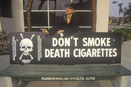 Dont Smoke Death Cigarettes sign