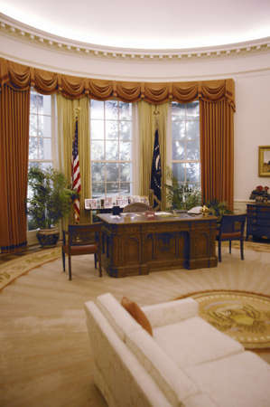 Replica of the White House Oval Office at the Ronald W. Reagan Presidential Library