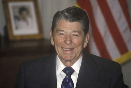 President Reagan presents an introduction for the Horatio Alger Association