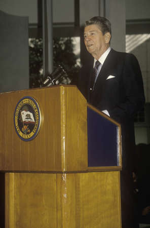 alger: President Reagan presents an introduction for the Horatio Alger Association