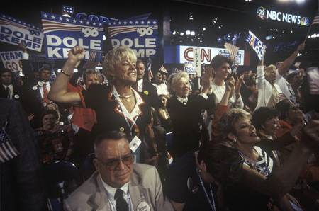 delegates: Delegates root for their candidates at the 1996 Republican National Convention in San Diego, California Editorial