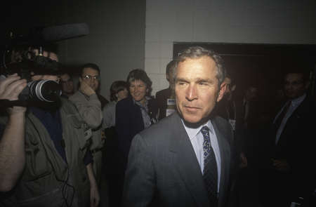 George W. Bush at the New Hampshire Presidential Candidates Youth Forum, January 2000