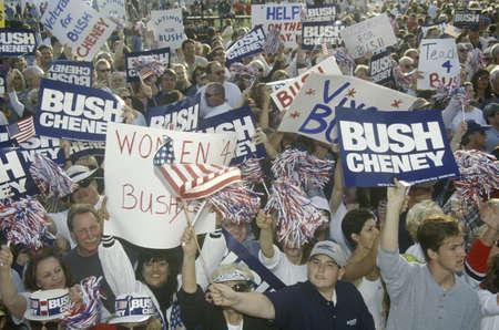mesa: BushCheney campaign rally in Costa Mesa, CA Editorial