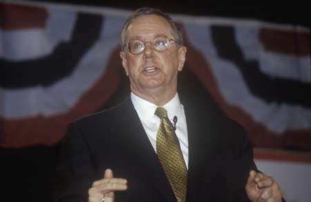 primaries: Steve Forbes addressing the New Hampshire Presidential Candidates Youth Forum, January 2000