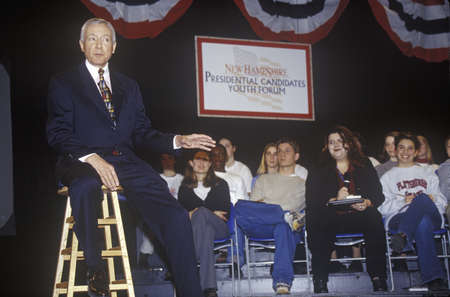 primaries: Senator Orrin Hatch addressing the New Hampshire Presidential Candidates Youth Forum, January 2000