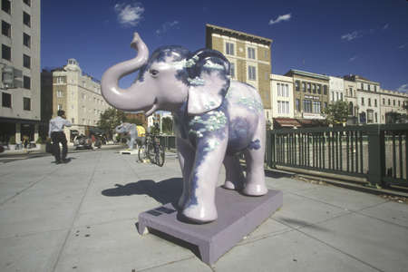 Statue of a decorated Republican elephant