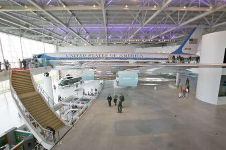 us air force: Inside the Air Force One Pavilion at the Ronald Reagan Presidential Library and Museum, Simi Valley, CA