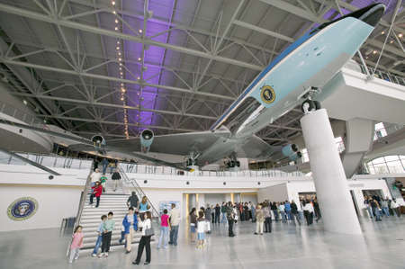 ronald reagan: Inside the Air Force One Pavilion at the Ronald Reagan Presidential Library and Museum, Simi Valley, CA