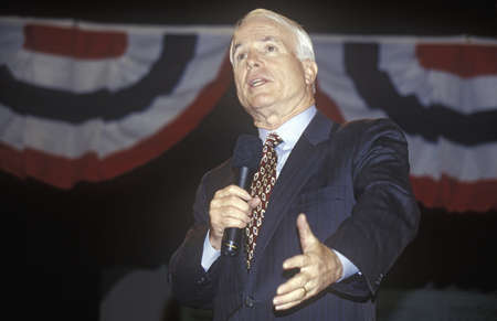 Senator John McCain speaking at Presidential Youth Forum at Anselm College, NH, January 2000 Editorial