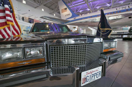 ronald reagan: Presidential motorcade on display at the Ronald Reagan Presidential Library and Museum, Simi Valley, CA