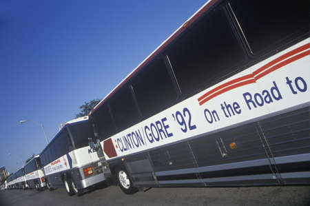 1992 年に Waco、テキサス州のビル クリントンアル ・ ゴア Buscapade 観光バス 報道画像