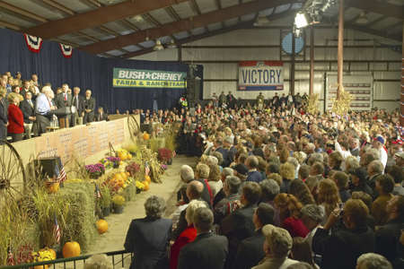 Campaign rally in Ohio attended by Vice Presidential candidate Dick Cheney, 2004