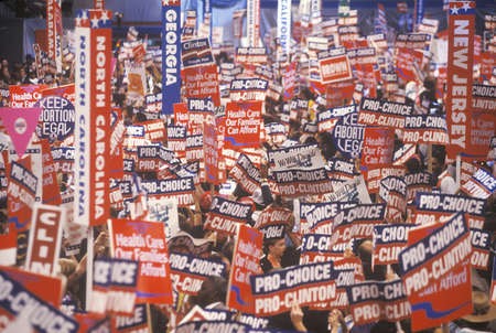 State delegations at the Presidential celebration of the 1992 Democratic Convention in Madison Square Garden, Manhattan, New York