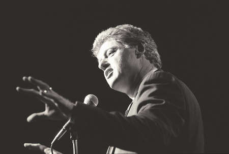 speaks: Governor Bill Clinton speaks at a New York rally during the ClintonGore campaign of 1992 Editorial