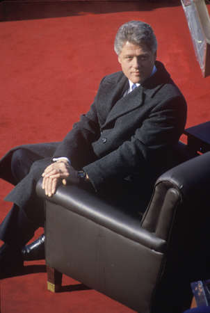 42nd: Bill Clinton, 42nd President, on Inauguration Day 1993, Washington, DC Editorial