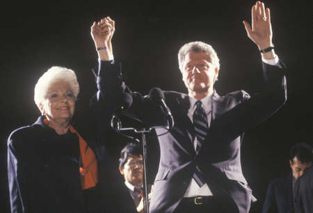 governor: Governor Bill Clinton and Governor Ann Richards at a Texas campaign rally in 1992 on his final day of campaigning, Fort Worth, Texas