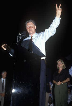 Governor Bill Clinton on the ClintonGore 1992 Buscapade campaign tour in Tyler, Texas