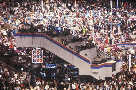 マディソン ・ スクエア ・ ガーデンで 1992年民主党全国大会でメディア プレス プラットフォーム