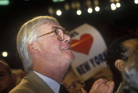 Senator Patrick Moynihan at the 1992 Democratic National Convention at Madison Square Garden, New York
