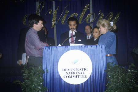Democratic National Committee fund raiser with DNC Chairman Ron Brown and future Secretary of Labor Alexis Herman at the Sheraton Hotel in Washington DC, 1991