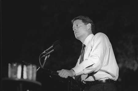 addresses: Senator Al Gore addresses the crowd at a DNC Fundraiser in New York City, 1992 Editorial