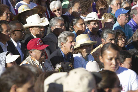 83rd: Senator and Mrs. John Kerry in audience of 83rd Intertribal Indian Ceremony, Gallup, NM