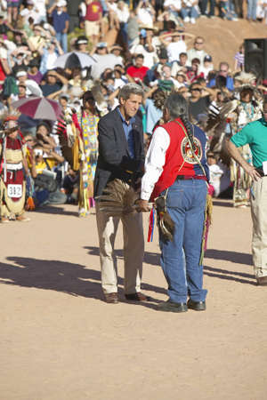 83rd: Exchange  between Senator John Kerry with Intertribal Council President, Gallup, NM