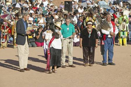 83rd: Embrace of Teresa Heinz Kerry with member of Intertribal Indian Ceremony, Gallup, NM
