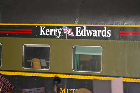 across america: Whistle Stop Kerry Express across America train close-up, American Southwest Editorial