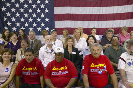 senator: Audience of retired persons at Senator John Kerry campaign rally, Valley View Rec Center, Henderson, NV