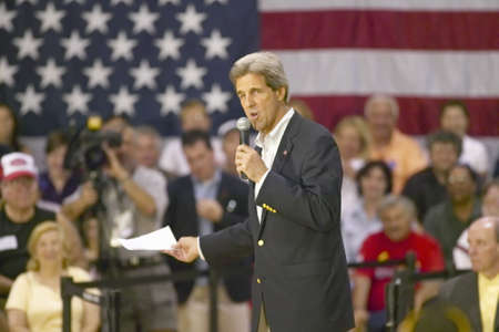 Senator John Kerry addressing audience of seniors at the Valley View Rec Center, Henderson, NV