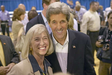 senator: Senator John Kerry posing with attendee at the Valley View Rec Center, Henderson, NV