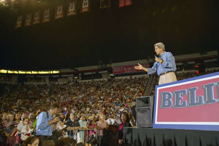 Senator John Kerry addresses audience of supporters at the Thomas Mack Center at UNLV,  Las Vegas, NV Editorial