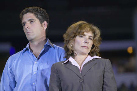 mack: Teresa Heinz Kerry and son at the Thomas Mack Center at UNLV, Las Vegas, NV