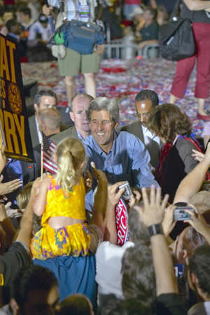 mack: Senator John Kerry shakes hands with child at the Thomas Mack Center at UNLV, Las Vegas, NV